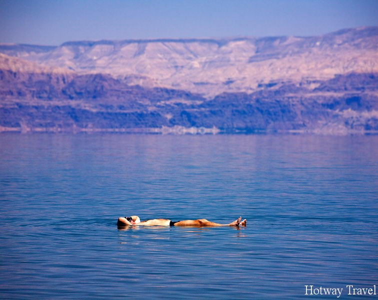 Man Floating At The Dead Sea