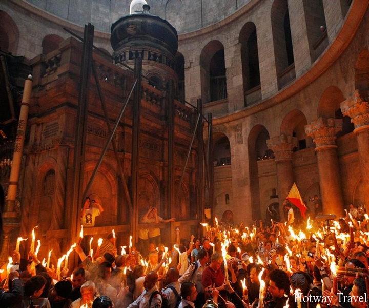 APTOPIX ML MIDEAST ISRAEL PALESTINIANS HOLY FIRE