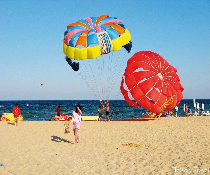 Отдых в Болгарии в июле парашют