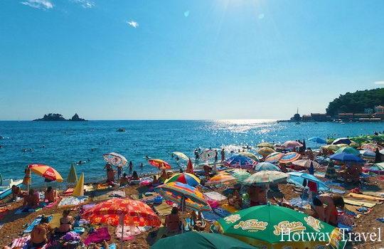 Отдых в Черногории в июле пляж1