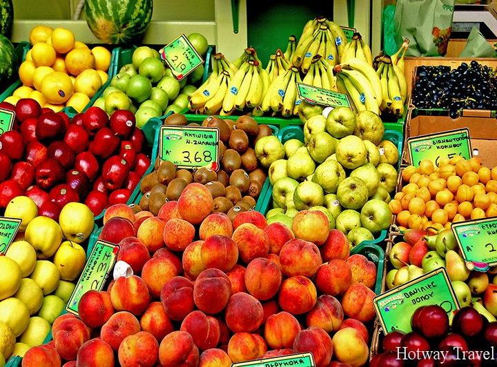 Отдых в Греции в июле фрукты