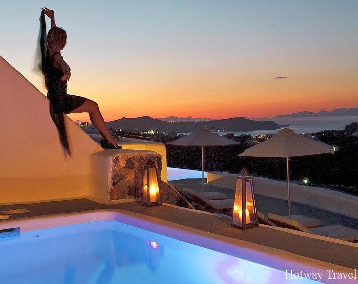 Отдых в Греции в июле вечер