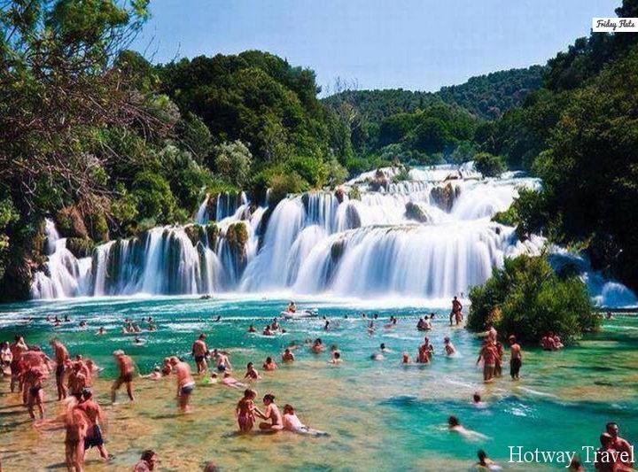 Отдых в Хорватии в июле Сплит водопад