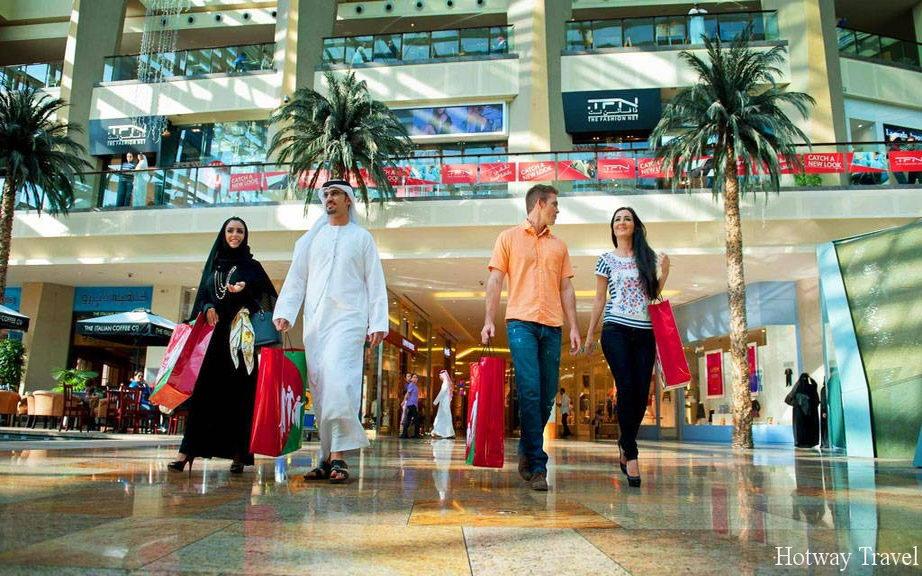 Эмирата летом шопинг