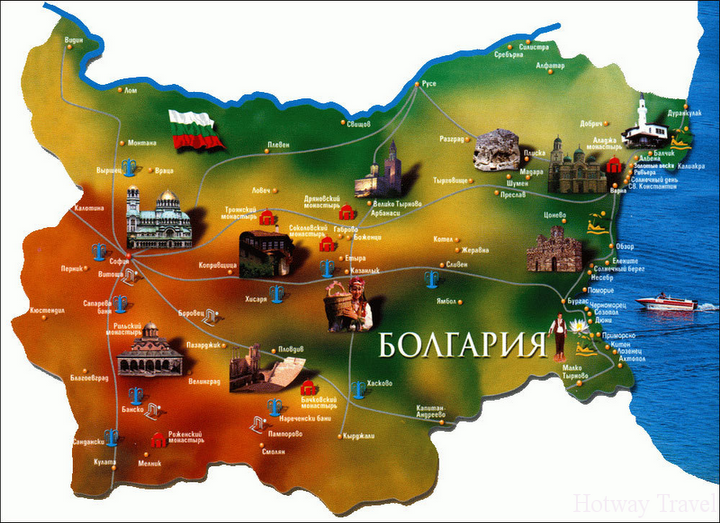 Отдх в Болгарии в августе карта