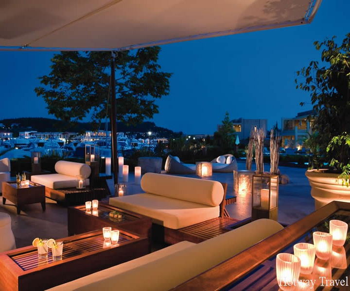Отдых в Греции в августе отель вечер