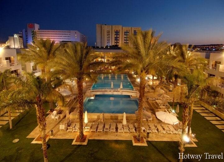 Отдых в Израиле в августе отель вечер Эйлат