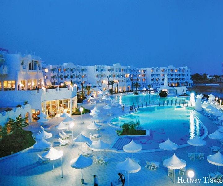 Отдых в Тунисе в августе отель вечер